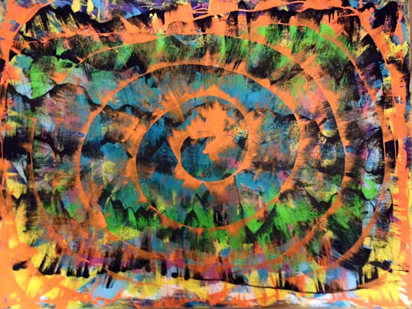 Spirals 4-Spiral art abstract expressionist painter Christina Culverhouse at Intuitive Creations