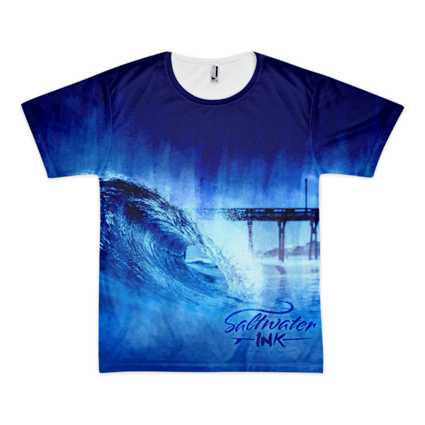 Water Color Wave Tee | Saltwater INK