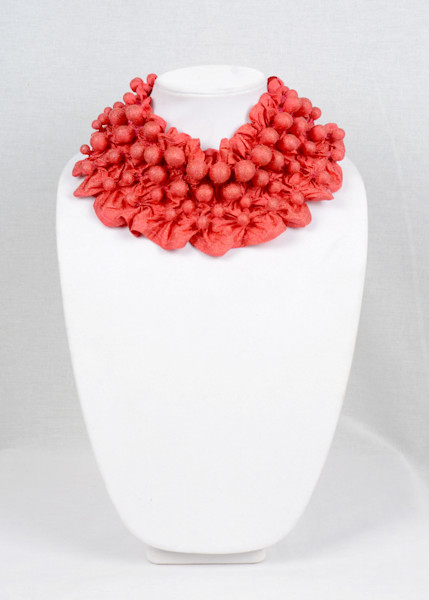 Beaded Bands in Coral with Sparkles