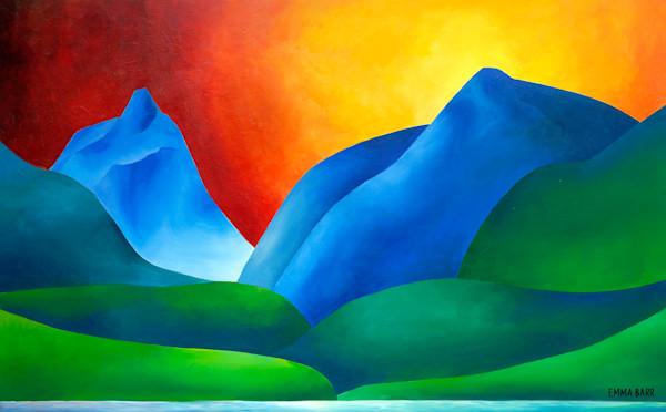 Crag Lake Sunset canvas art print by Emma Barr.