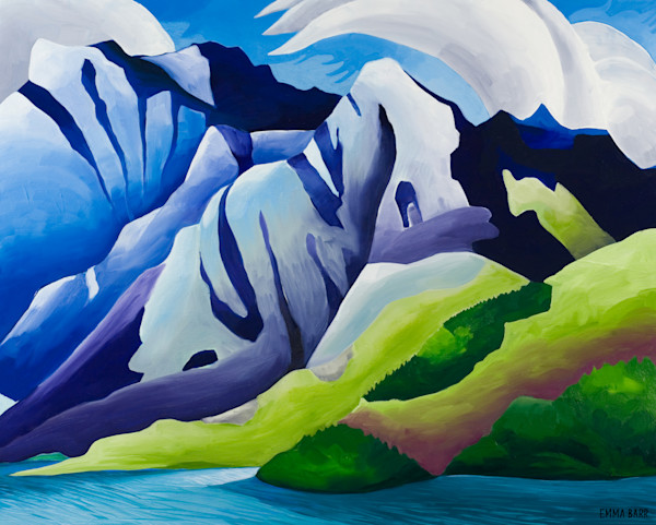 Kluane Lake and Mountains | Deluxe Canvas Print | Emma Barr Fine Art