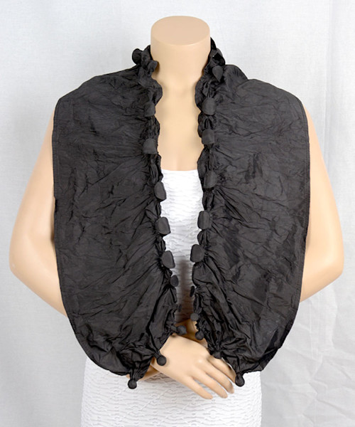 On the Edge Scarf in Black
