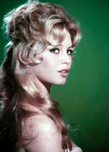 Brigitte Bardot Green Background