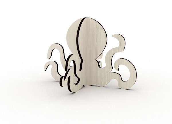 Octopus Cut-Out Shape