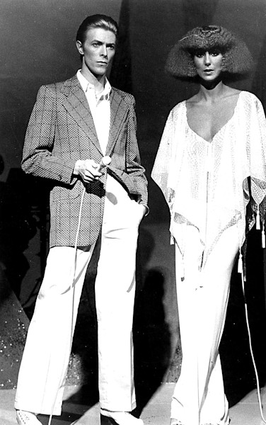 David Bowie and Cher