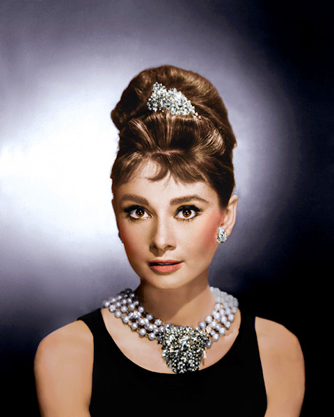 Audrey Hepburn Portrait Breakfast at Tiffany's
