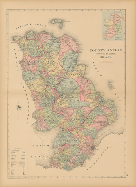 map of county antrim