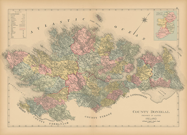 map of county donegal
