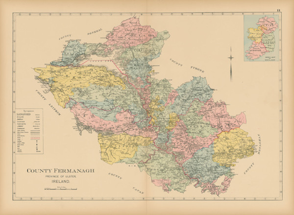 map of county fermanagh