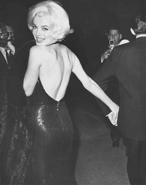 Marilyn Monroe looking back