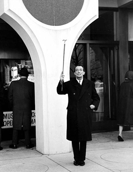 Salvador dali with his cane