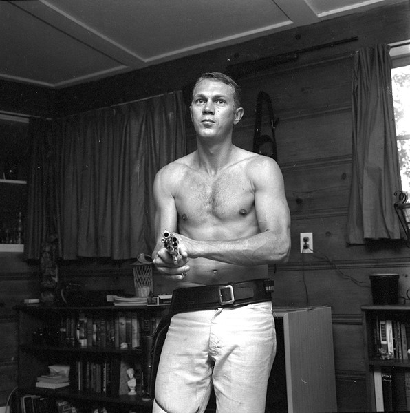 Steve Mcqueen teaching his wife