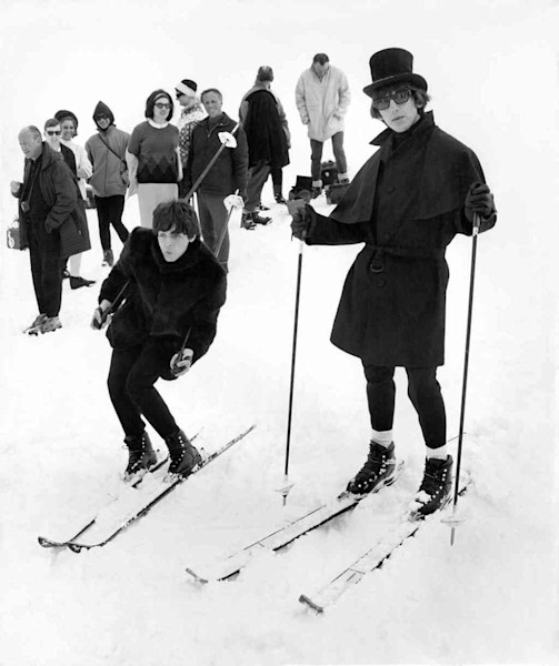 The Beatles Skiing
