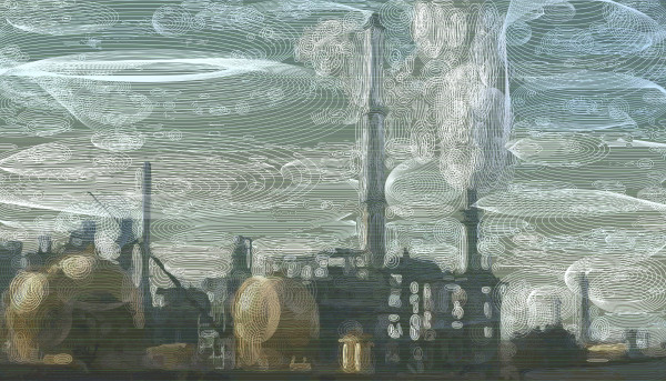 Oil Refinery at Benicia CA Photographic Print by Peter McClard at VectorArtLabs.com