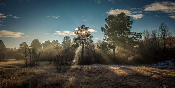 Foggy Winter Sunrise Castle Rock Colorado Landscape Photography