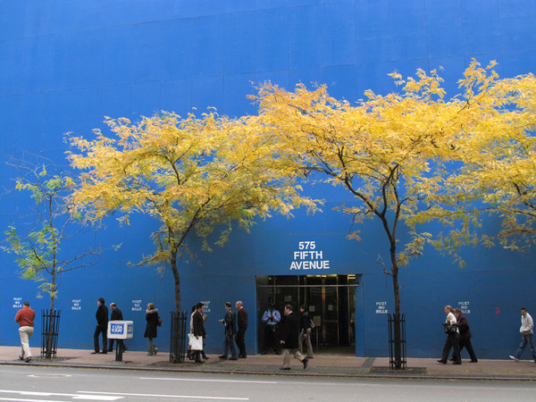 Blue Wall, 5th Ave, NYC, by Scott Squires, Limited Edition Print