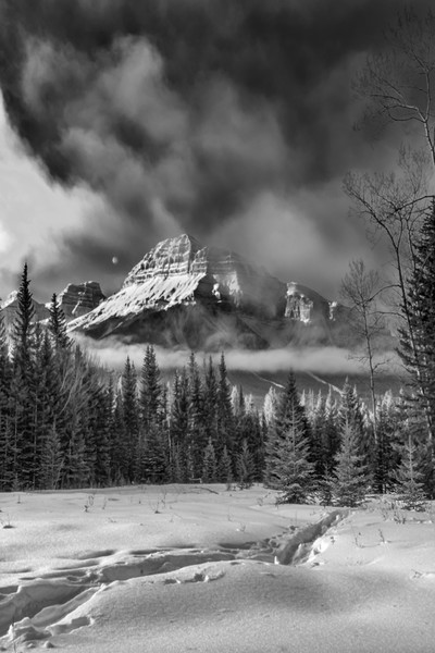 January Sun Up & Winter Moon |Banff National Park | Canadian Rockies | Rocky Mountains|