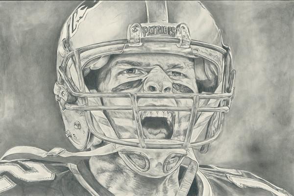 """Tom Brady Pencil """"Battle Cry"""""""
