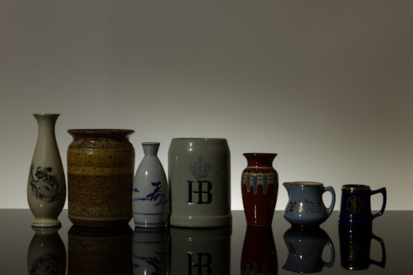 Fine Art Photograph of Antiques in Grey Background by Michael Pucciarelli
