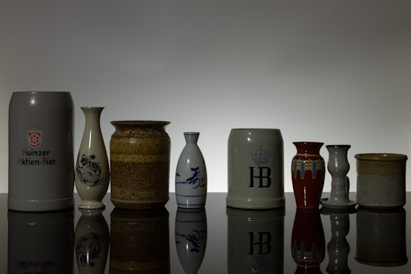 A Fine Art Photograph of Antiques in Grey by Michael Pucciarelli