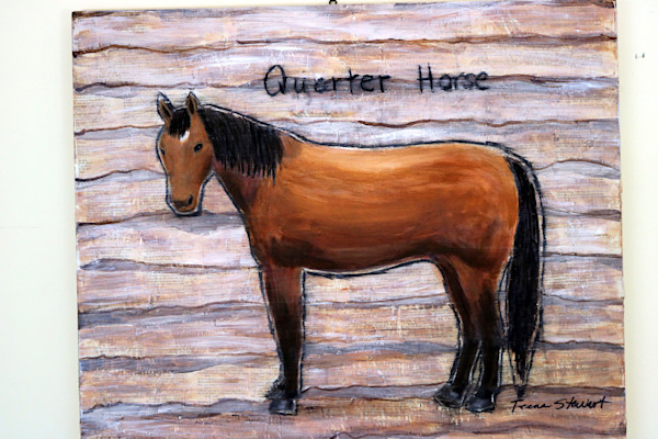 Quarter-Horse, Painting of a Quarter Horse, art for sale  by Teena Stewart