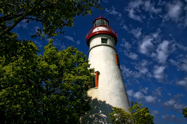Looking Up To Marblehead Light