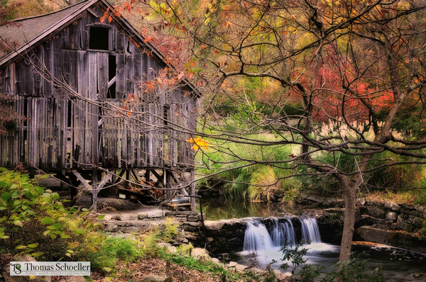 Historic Connecticut Grist Mill/Old barns and Rustic Charm fine art photography