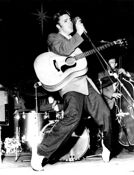 Elvis Presley live in concert black and white