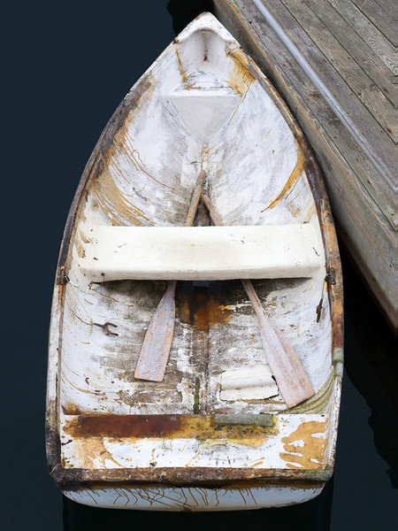 Bar Harbor Skiff I, Large Vertical Rowboat Photograph, Boat Photography Print by Katherine Gendreau