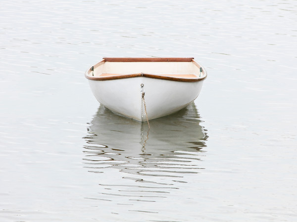 Pamet Harbor Skiff, Large Rowboat Photography, Fine Art Boat Photo Print by Katherine Gendreau