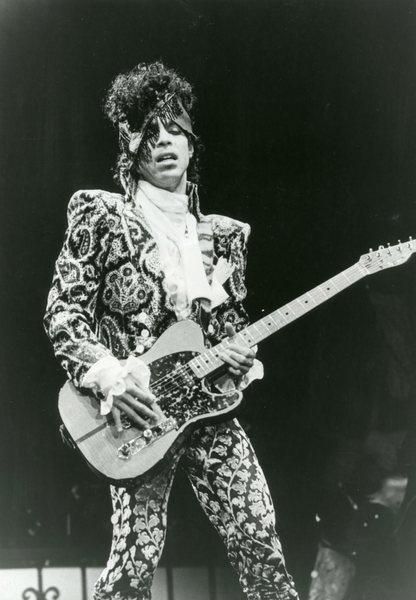 Prince guitar pose