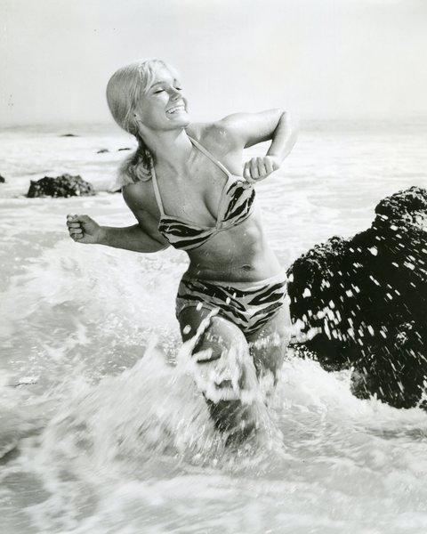 Yvette Mimieux in the ocean