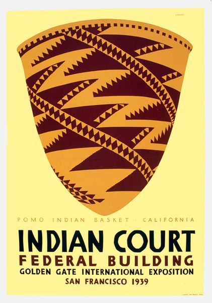 Indian Court 1939 - Pomo Indian Basket