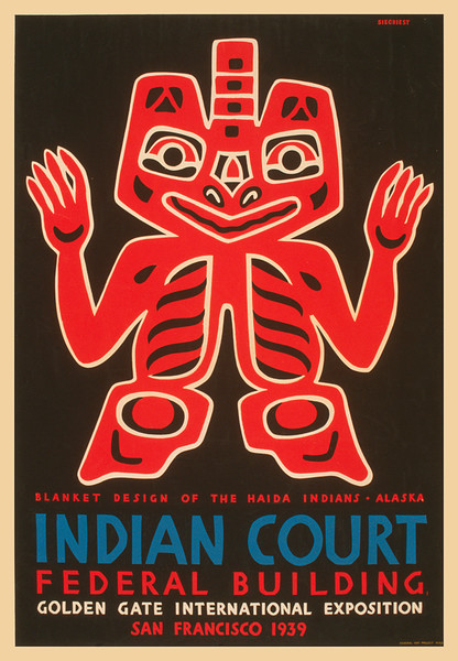 Indian Court 1939 - Blanket Design of the Haida Indians