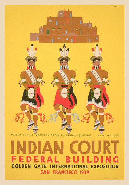 Indian Court 1939 - Pueblo Turtle Dancers