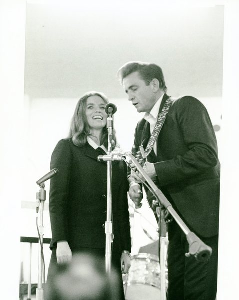 Johnny Cash and June Carter duet