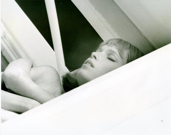 Mia Farrow resting
