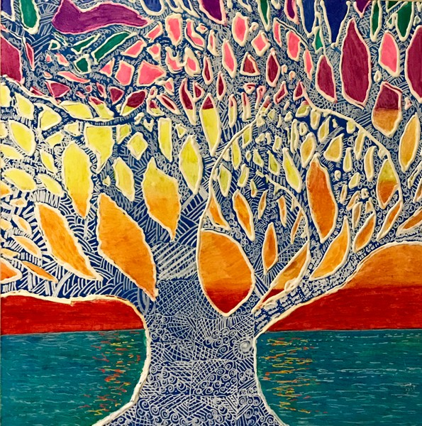 Original abstract tree art. Paintings and prints for sale on line by Christina Culverhouse