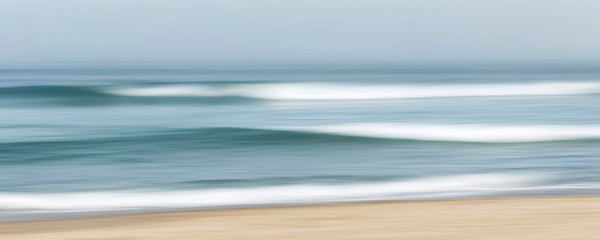"""Fog Waves"" Cape Cod abstract panoramic seascape photography print by Katherine Gendreau"