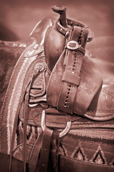 Western Saddle Rodeo Warm Tone Decor|Wall Decor fleblanc