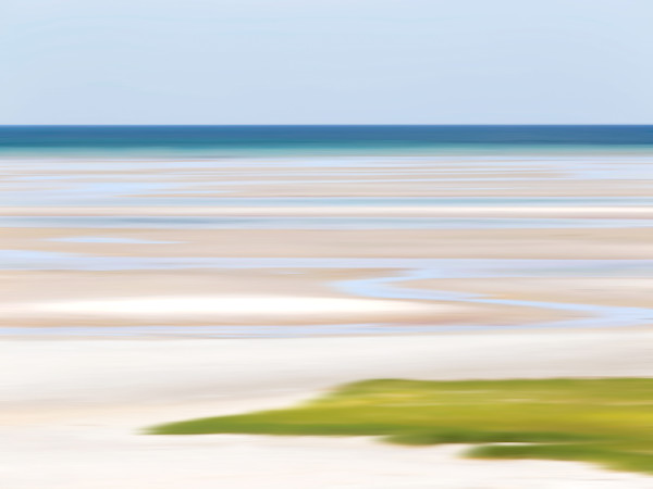 """Tide Lines"" - Abstract Cape Cod beach tidepools art"