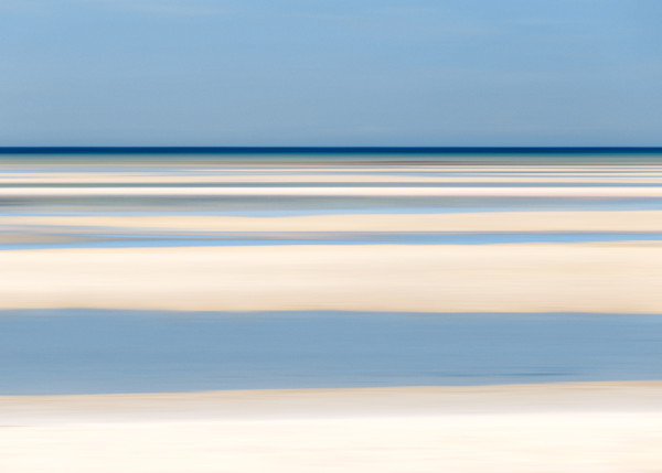 """Tide Lines III"" - Abstract Cape Cod Bay Beach Art Print"