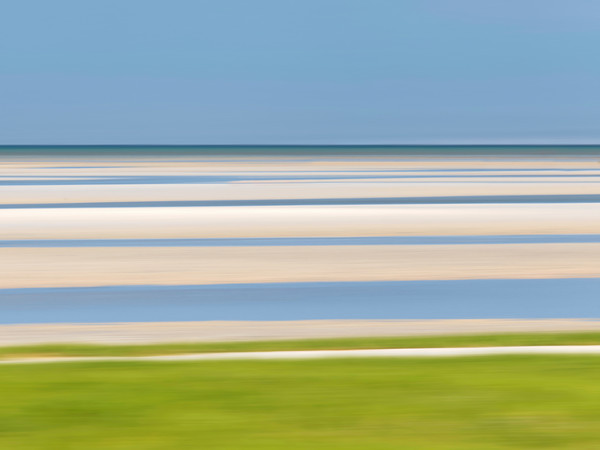 """Tide Lines II"" - Cape Cod abstract beach artwork"