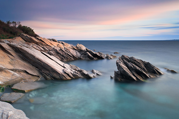 """Windward Rocks"" Rhode Island Seascape Photograph by Katherine Gendreau"