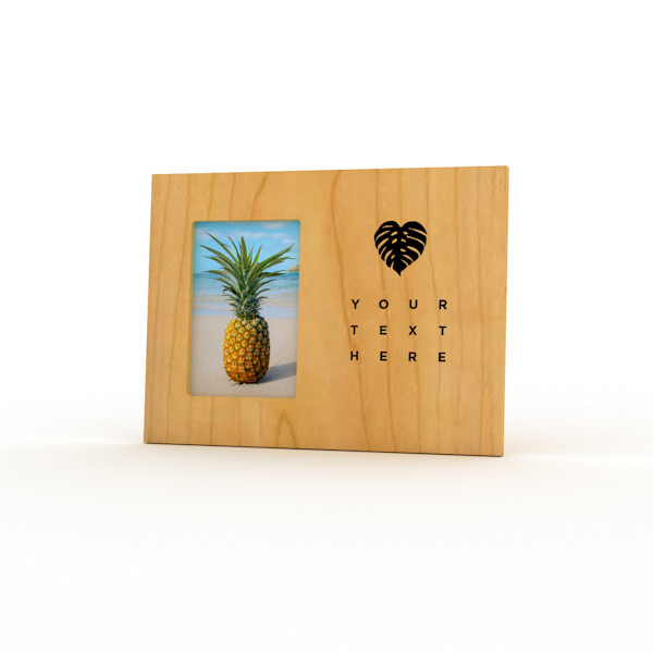 9x12 Personalized Picture Frame | Monstera Love