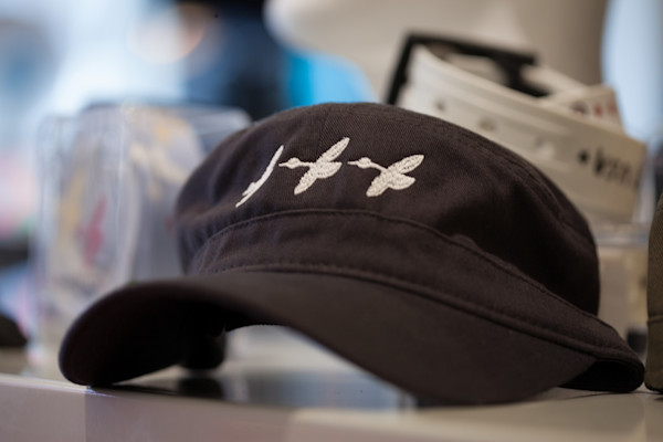 Navy Fidel Cap With White Geese