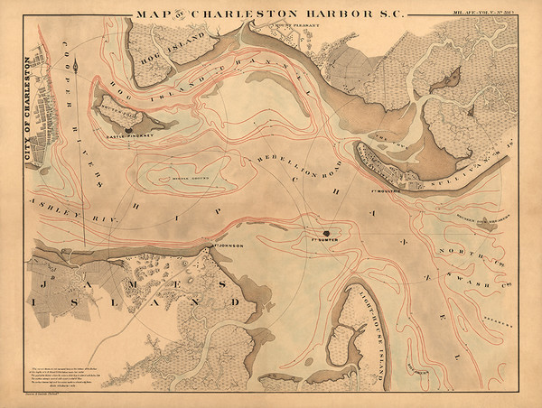 Map of Charleston Harbor, S. C.