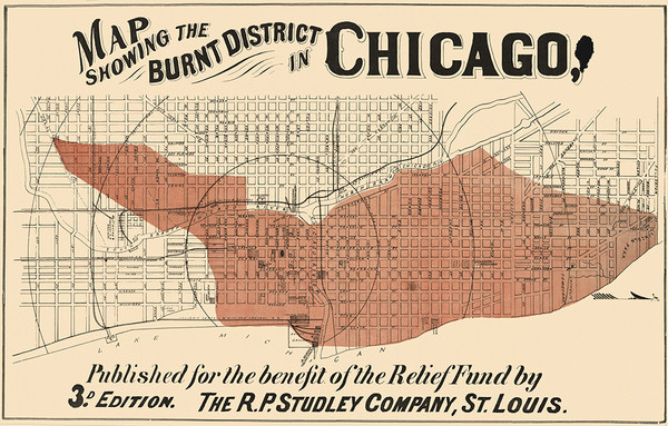 Burnt District in Chicago 1952