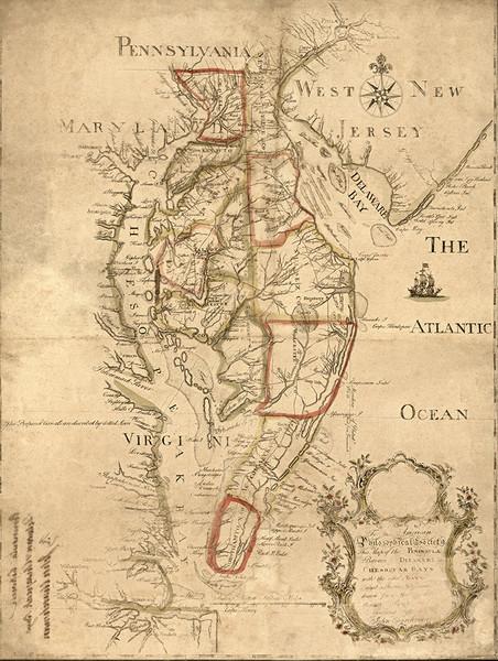 Peninsula Between Delaware and Chesapeake Bay.