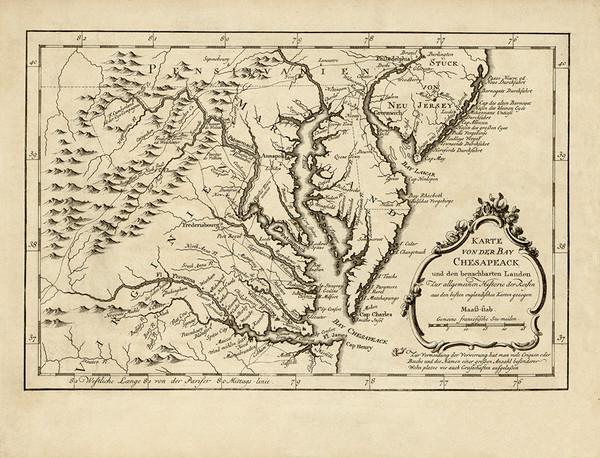 Map of Chesapeake Bay